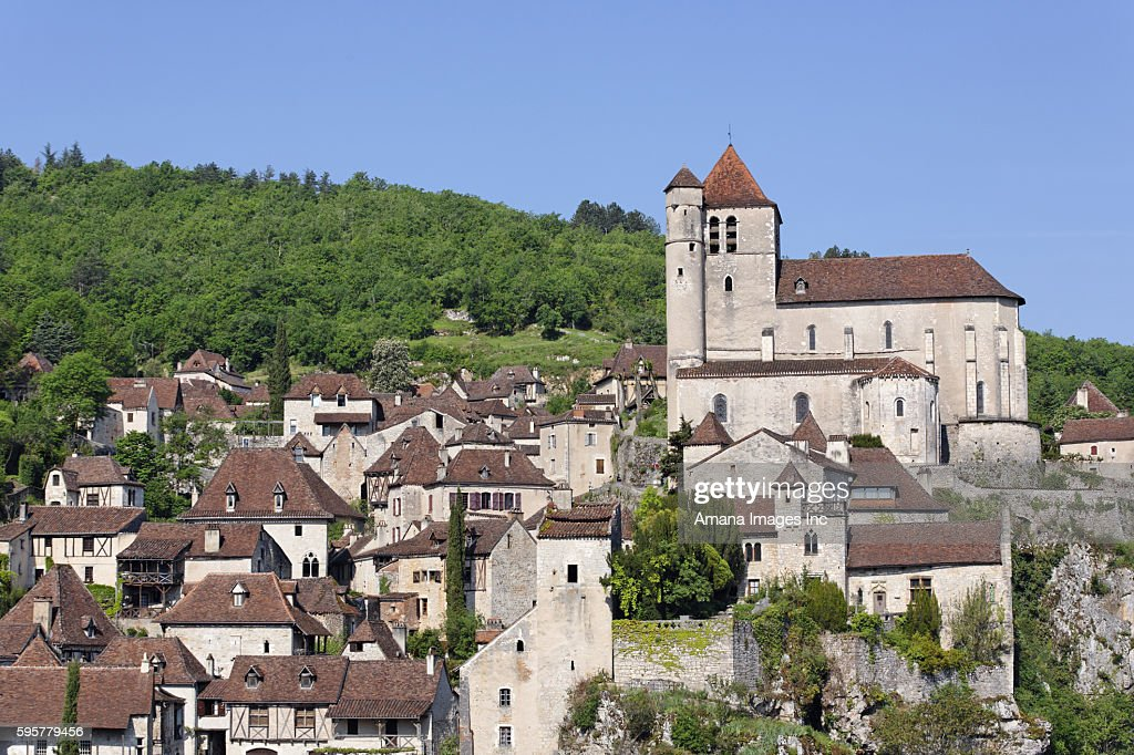 Houses with Red Roof, Lot, Cahors, St. Cirq Lapopie