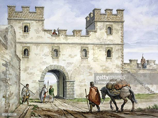 Housesteads Roman Fort 3rd century Housesteads Roman Fort Northumberland A reconstruction drawing of the east gate An auxiliary fort on Hadrian's...