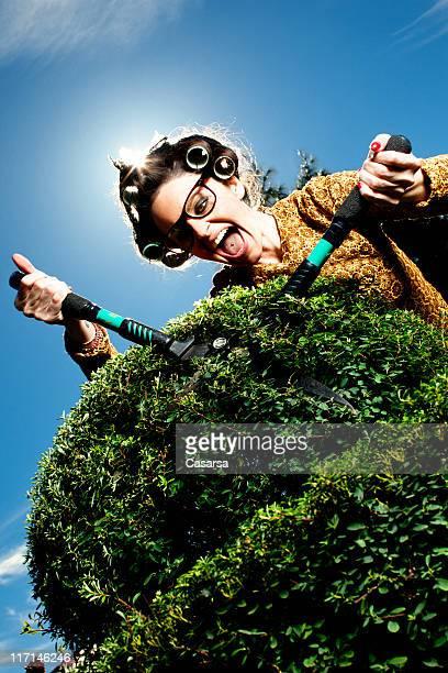 Femme jardinage