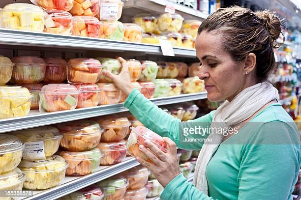 Housewife shopping for fruit
