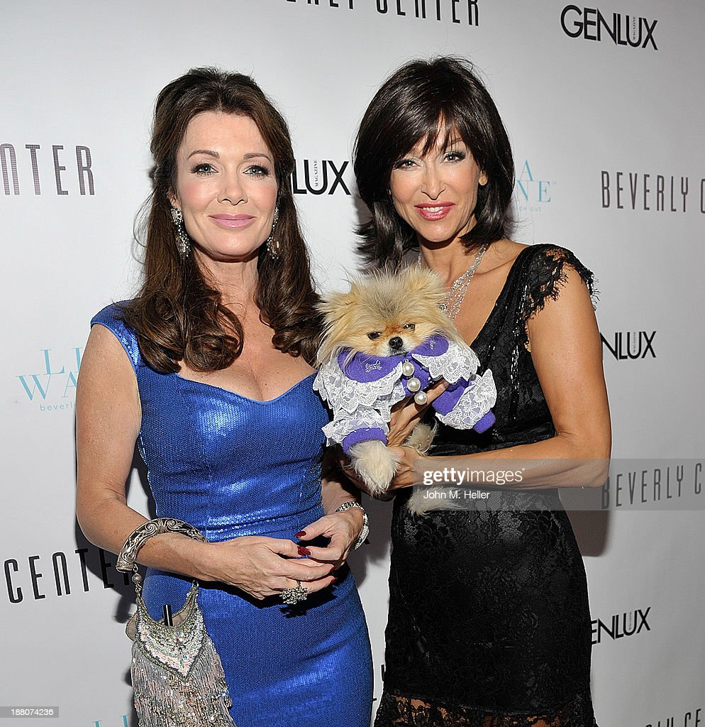 Housewives of Bererly Hills Lisa Vanderpump and actress Sofia Milos attend the GENLUX magazine Launch Event Party at The Beverly Center on November 14, 2013 in Los Angeles, California.