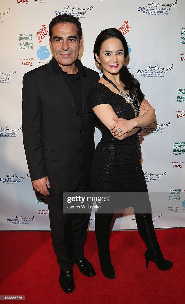 Houshang Touzie and Bita Milanian attend the 2013 Farhang Foundation Short Film Festival held at the Bing Theatre at LACMA on March 16, 2013 in Los Angeles, California.