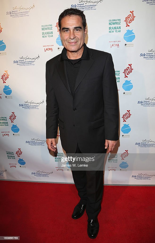Houshang Touzie attends the 2013 Farhang Foundation Short Film Festival held at the Bing Theatre at LACMA on March 16, 2013 in Los Angeles, California.