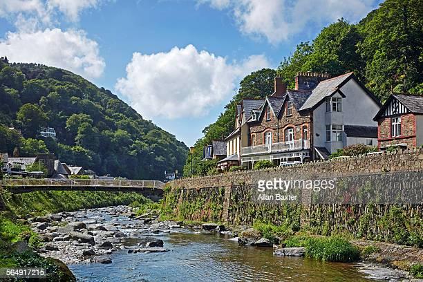 Housing along East Lyn river in Exmoor