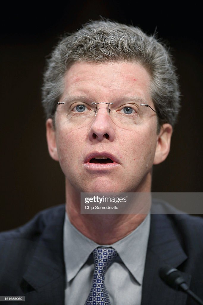 Housing and Urban Development Secretary Shaun Donovan testifies before the Senate Appropriations Committee about the potential impacts of 'the sequester' during a hearing on Capitol Hill February 14, 2013 in Washington, DC. 'The sequester,' automatic spending cuts to military and nonmilitary programs, will go into affect March 1 if Congress and the White House can not find common ground on a federal budget.