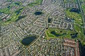Suburban neighborhood of The Villages, Florida