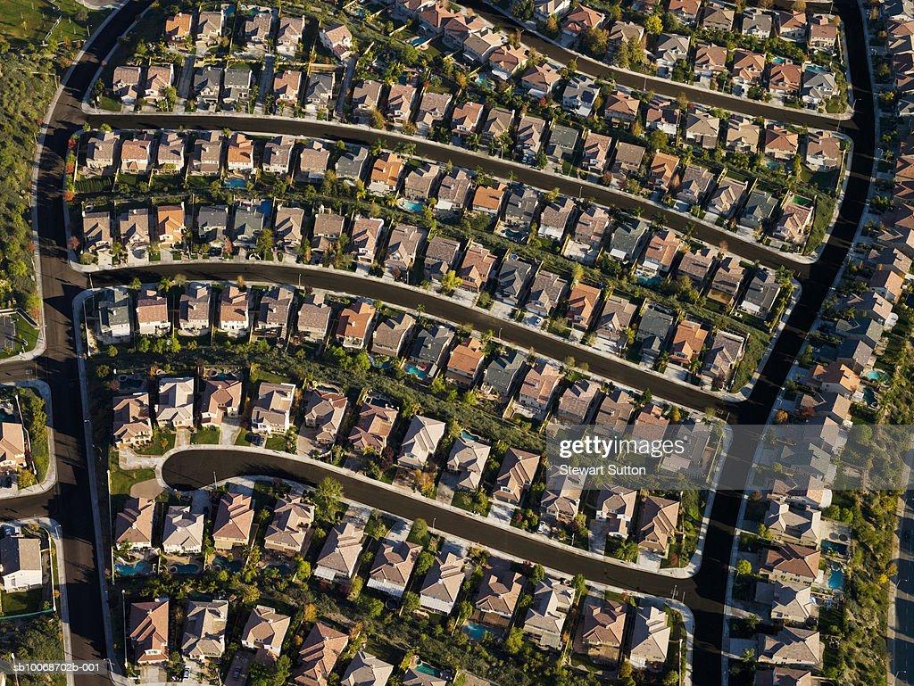 Housing development, aerial view