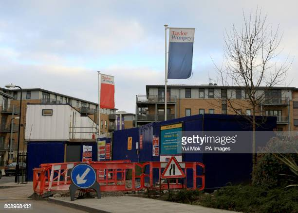 A housing development called 'Altius' by home builder Taylor Wimpey in Clapton east London