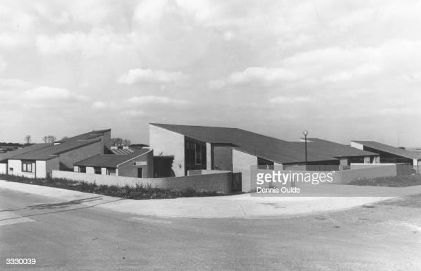 A housing estate in Milton Keynes Buckinghamshire