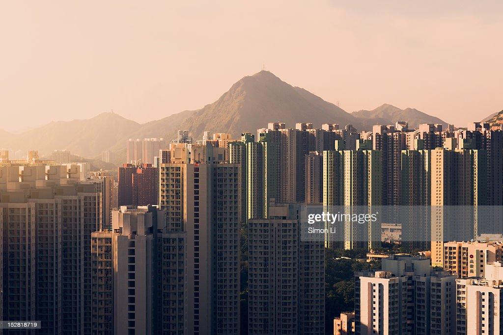 Housing estates at afternoon : Stock Photo