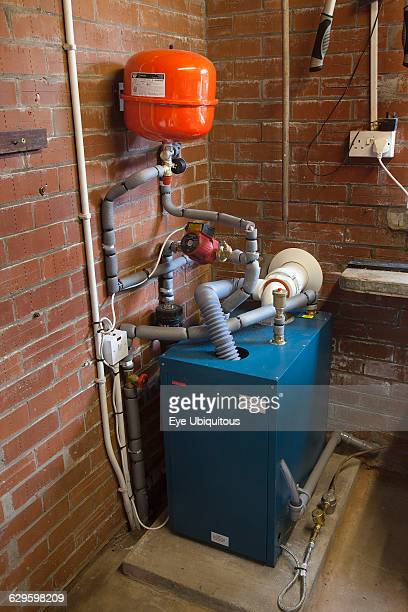 Housing Homes Oil fired central heating boiler situated in garage