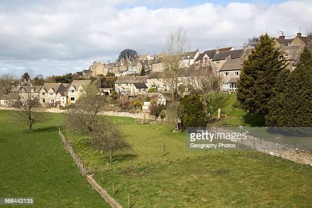 Housing in Tetbury Cotswolds Gloucestershire England UK