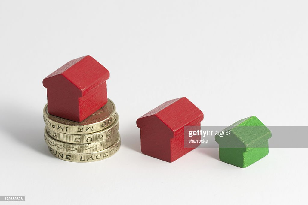 Housing money and colored houses