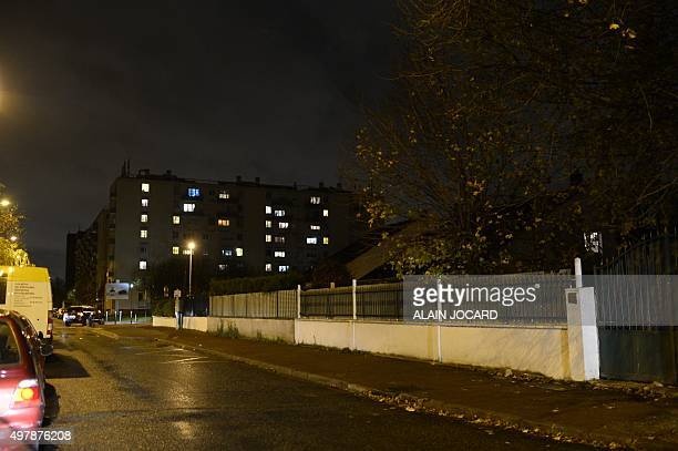 Housing project buildings are pictured during a police raid in AulnaysousBois a suburb northeast of Paris on November 19 2015 A search was under way...