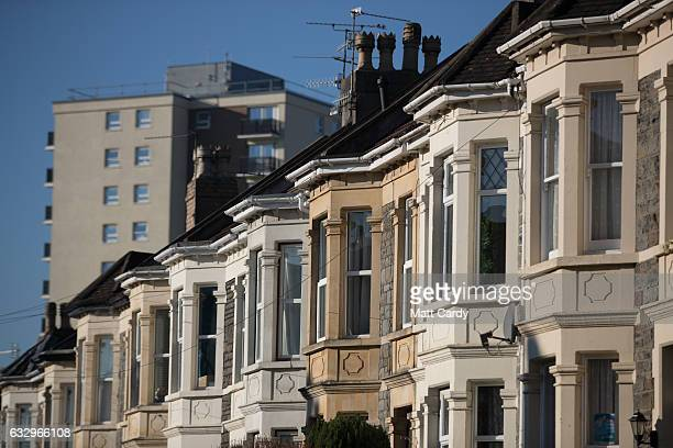 Housing stock in the city of Bristol is seen on January 25 2017 in Bristol England Figures released for 2016 show that Bristol had the UK's...
