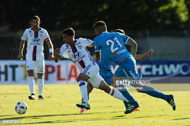 Houssem AOUAR of Lyon during the friendly game between Olympique Lyonnais Lyon and Zenit St Petersburg on July 9 2016 in ThononlesBains France