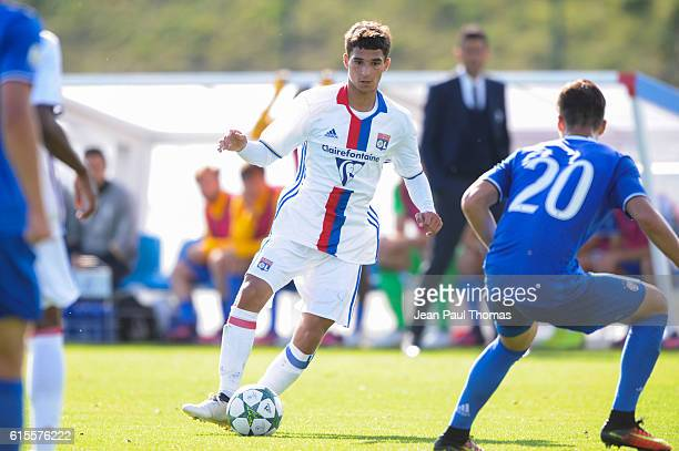 Houssem AOUAR of Lyon during the Youth League match between Lyon and Juventus at Plaine des Jeux de Gerland on October 18 2016 in Lyon France