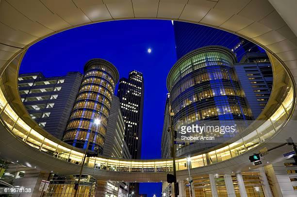 Houston architecture at night