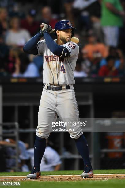 Houston Astros center fielder George Springer at bat during a game between the Houston Astros and the Chicago White Sox on August 9 at Guaranteed...