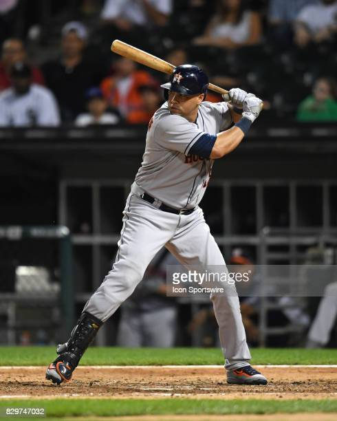 Houston Astros designated hitter Carlos Beltran at bat during a game between the Houston Astros and the Chicago White Sox on August 9 at Guaranteed...