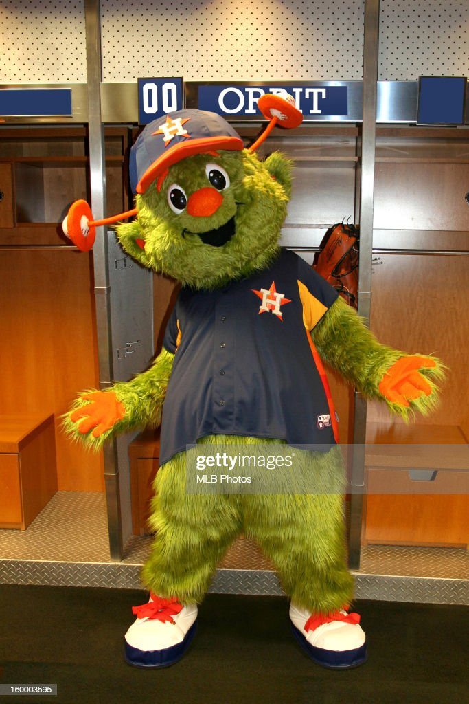 Houston Astros mascot Orbit poses for a portrait circa 2013 in Houston, Texas.