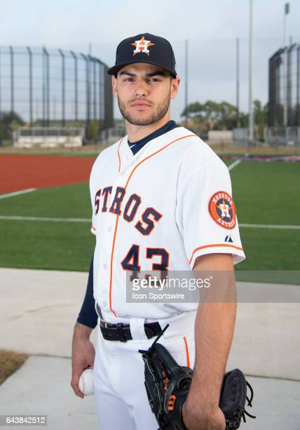 Houston Astros Pitcher Lance McCullers poses for a portrait during Houston Astros Photo Day at The Ballpark of the Palm Beaches on February 19 2017...