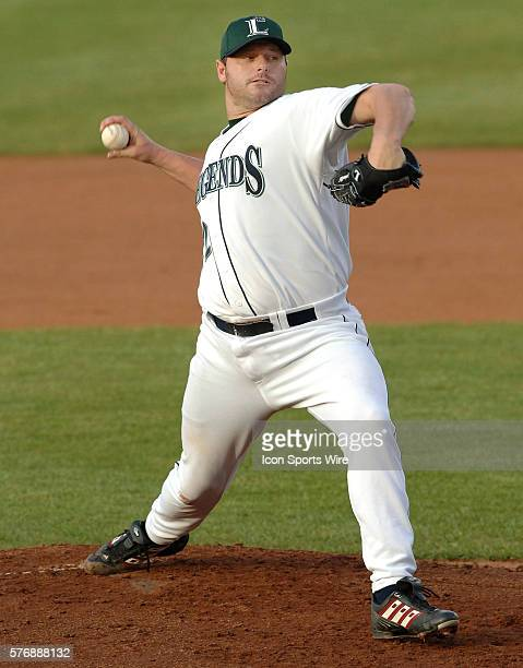 Houston Astros pitcher Roger Clemens delivers a pitch to Lake County Captains' Marshall Szabo during the first inning of play at Applebee's Park in...