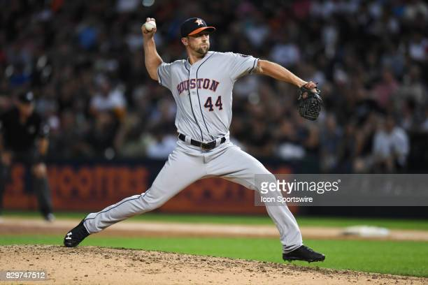Houston Astros relief pitcher Luke Gregerson pitches during a game between the Houston Astros and the Chicago White Sox on August 9 at Guaranteed...
