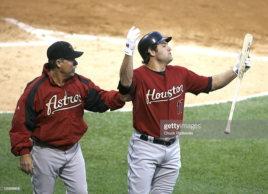 Houston Astros' Right Fielder, <a gi-track='captionPersonalityLinkClicked' href=/galleries/search?phrase=Lance+Berkman&family=editorial&specificpeople=167176 ng-click='$event.stopPropagation()'>Lance Berkman</a> reacts to being thrown out of the game for arguing a called third strike during their Interleague game versus the Chicago White Sox June 8, 2007 at U.S. Cellular Field in Chicago, Illinois. The Astros would defeat the White Sox 5-2.