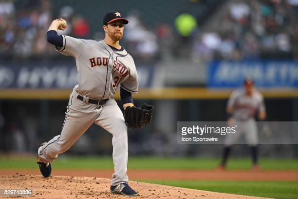 Houston Astros starting pitcher Collin McHugh pitches during a game between the Houston Astros and the Chicago White Sox on August 9 at Guaranteed...