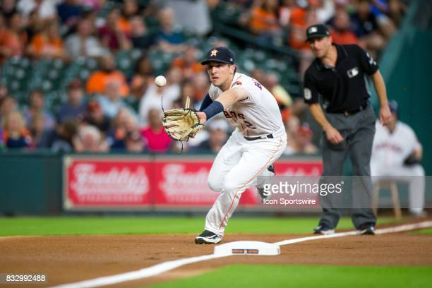 Houston Astros third baseman Alex Bregman makes a play on Arizona Diamondbacks center fielder AJ Pollock s the ball went foul in the first inning of...
