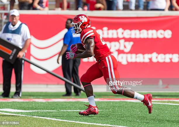 Houston Cougars cornerback Brandon Wilson carries the ball during the NCAA football game between the Central Florida Knights and Houston Cougars on...