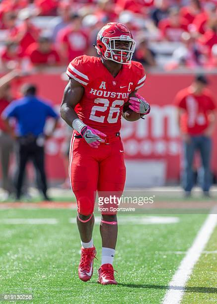 Houston Cougars cornerback Brandon Wilson returns to the sidelines during the NCAA football game between the Central Florida Knights and Houston...