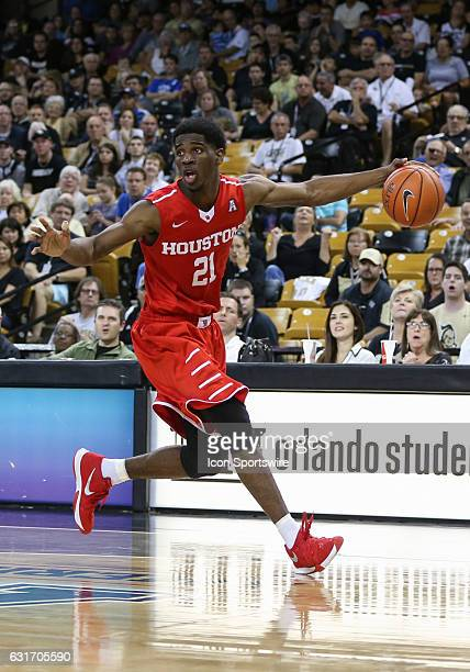 Houston Cougars guard Damyean Dotson during the basketball game between the UCF Knights and the Houston Cougars on January 14 at the CFE Arena in...