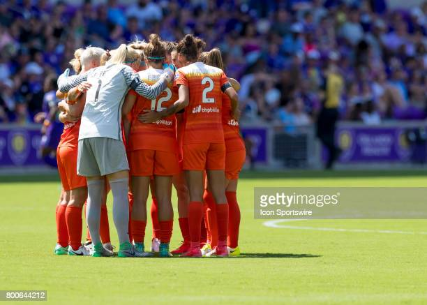 Houston Dash starting 11 during the NWSL soccer match between the Orlando Pride and the Houston Dash on June 24 2017 at Orland City Stadium in...