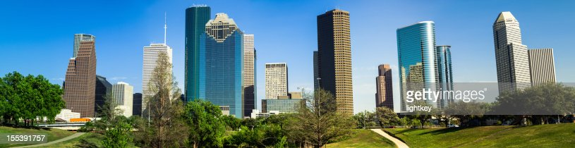 Houston downtown panorama