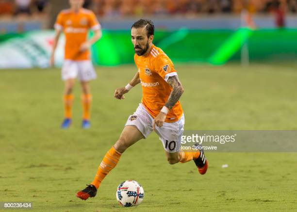 Houston Dynamo forward Vicente Sanchez moves the ball during the MLS match between Dallas FC and Houston Dynamo on June 23 2017 at BBVA Compass...