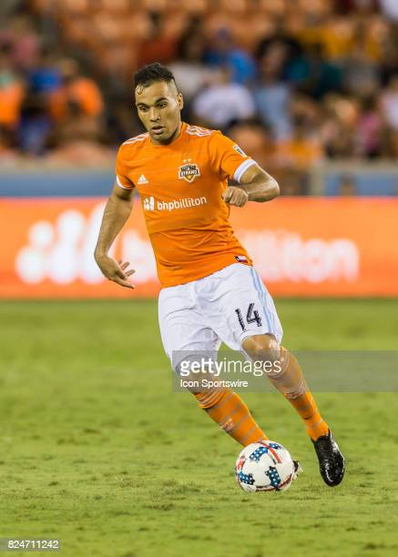 Houston Dynamo midfielder Alex dribbles the ball during the MLS match between the Portland Timbers and Houston Dynamo on July 29 2017 at BBVA Compass...