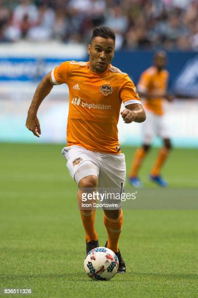 Houston Dynamo midfielder Alex runs with the ball during their match against the Vancouver Whitecaps at BC Place on August 19 2017 in Vancouver Canada