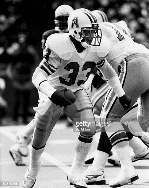 Houston Oilers running back Mike Rozier during a 2010 win over the St Louis Cardinals on October 27 1985 at Busch Stadium in St Louis Missouri