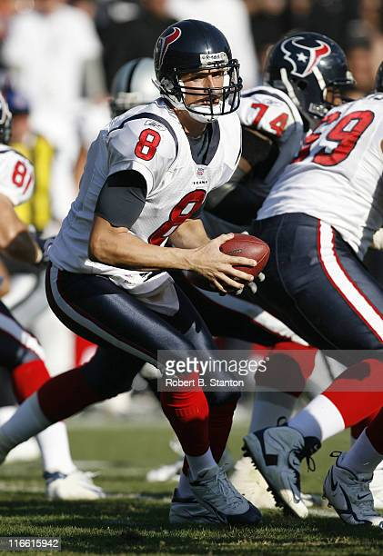 Houston quarterback David Carr has held to 32 yards passing as the Houston Texans defeated the Oakland Raiders by a score of 23 to 14 at McAfee...