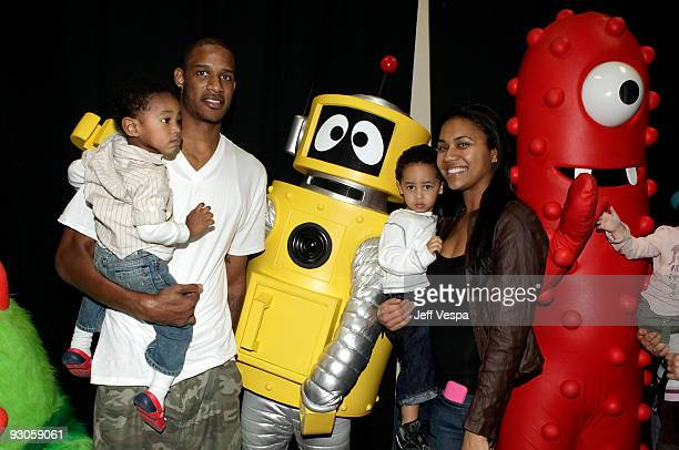 ACCESS*** Houston Rockets basketball player Trevor Ariza attends the first ever Yo Gabba Gabba 'There's A Party In My City' live performance at The...