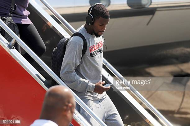 Houston Rockets point guard Aaron Brooks arrives at the Ninoy Aquino International Airport in Manila Philippines October 7 2013 The Houston Rockets...