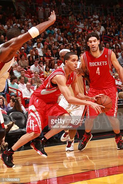 Houston Rockets shooting guard Kevin Martin drives to the basket during the game against the Miami Heat on March 27 2011 at American Airlines Arena...