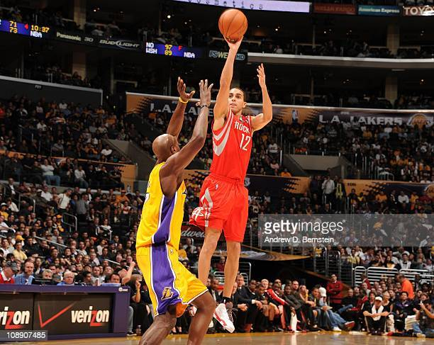 Houston Rockets shooting guard Kevin Martin goes for a jump shot during a game against the Los Angeles Lakers at Staples Center on February 1 2011 in...