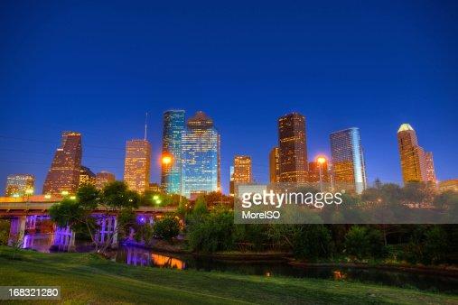 Houston de Distrito financeiro na Primavera dia