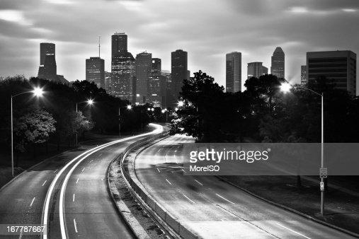 Houston, Skyline di bianco e nero