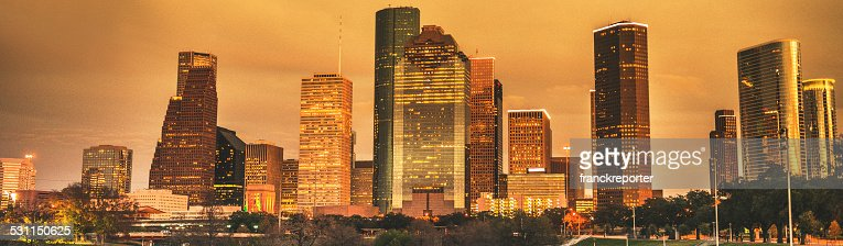 Houston, skyline di notte