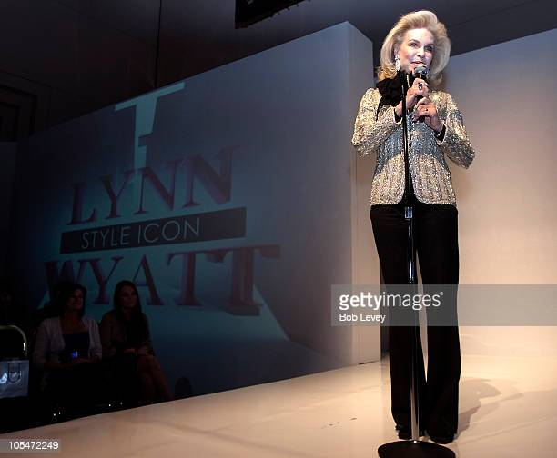 Houston socialite Lynn Wyatt was honored as a 'Style Icon' during a presentation on day four of Fashion Houston 2010 Presented By Audi at the Wortham...