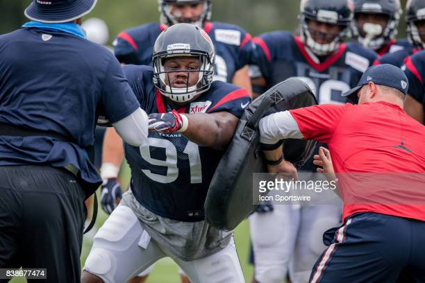 Houston Texans defensive tackle Carlos Watkins during joint practice between the Houston Texans and New Orleans Saints on August 24 at the Ochsner...